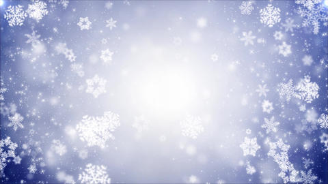 Christmas Falling snowflakes glittering, particles snowflakes and snow Animation