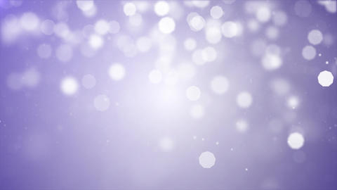 Lights White bokeh particles on blue Abstract motion background Footage