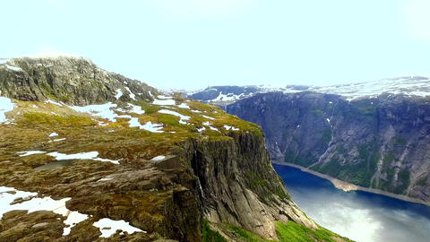 Norway. beautiful landscape of Norway. Fjord Live Action