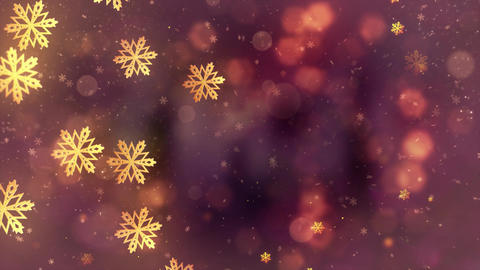Christmas Falling snowflakes animation particles snowflakes and snow background CG動画素材