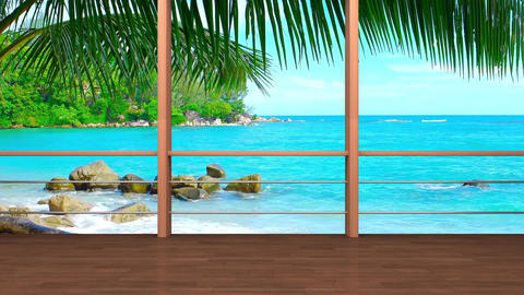 02HDTV Morning News Virtual Studio Green Screen Background meditation beach CG動画