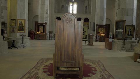 Inside in the temple Bagrati, Georgia, Kutaisi Footage