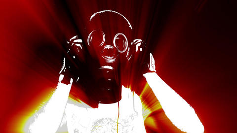 Acid Gas Mask 4K Threshold edition Animation