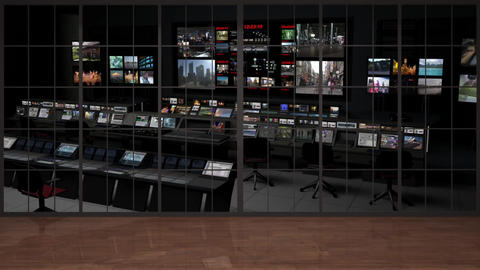 HDTV News Virtual Studio Green Screen Background Control Room Animation