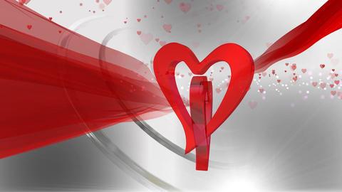 Heart shaped Valentine background ライブ動画