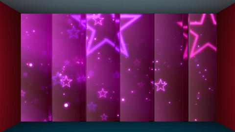 56HD TV Virtual Studio Green Screen Background Stars Violet Animation