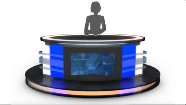 Virtual Tv Studio News Desks Collection After Effects Template