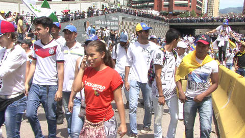 Protest for freedom in Venezuela, Against communism, Against socialism Footage