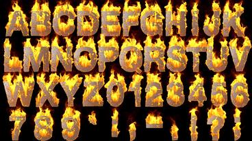 Fire Alphabet After Effects Template
