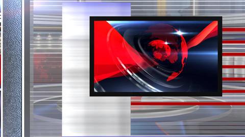 Virtual set news left Footage