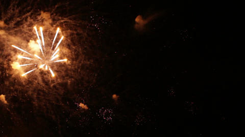Festive fireworks in the night sky Footage