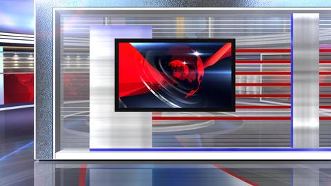 Virtual set news mid Live Action
