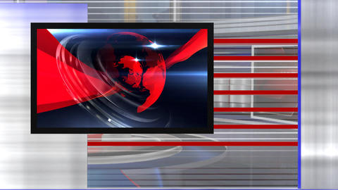 Virtual set news right Live Action