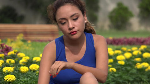 Confused Stressed Young Hispanic Woman Live Action