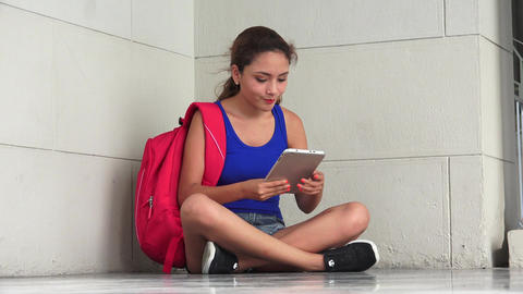 Irritated College Student Reading Tablet Live Action