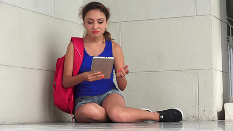Bored Student Reading Tablet Live Action