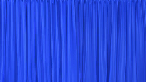 Blue textured curtains realistic 3D animation with alpha matte Animation