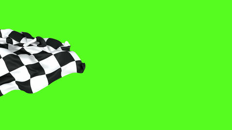 3D loop-able animation of the racing checkered flag Animation