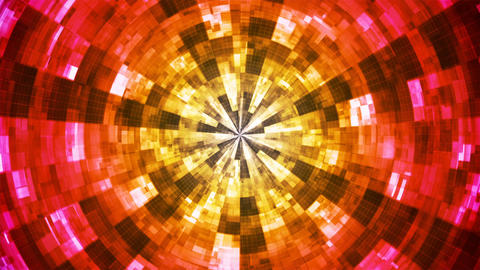 Twinkling Hi-Tech Grunge Flame Tunnel, Multi Color, Corporate, Loopable, 4K CG動画素材