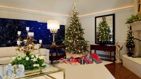 89HD Christmas TV Virtual Studio Green Screen XmasTree Gift CG動画