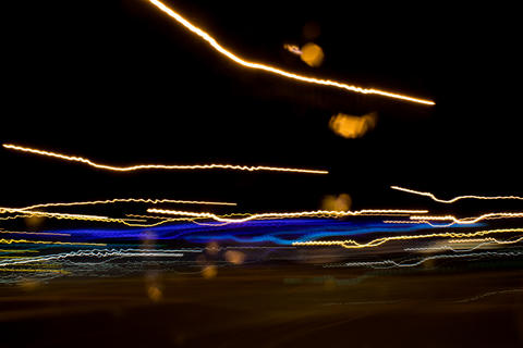 Driving Around Town. Light Rain. Long Exposure Foto