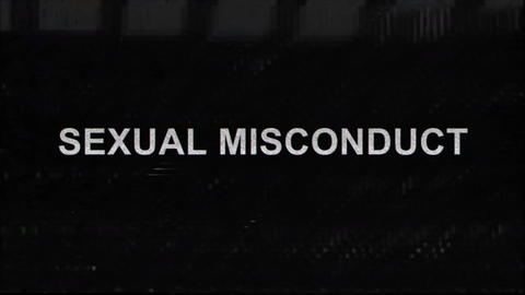 Sexual Sexual Misconduct Title with Glitches Footage