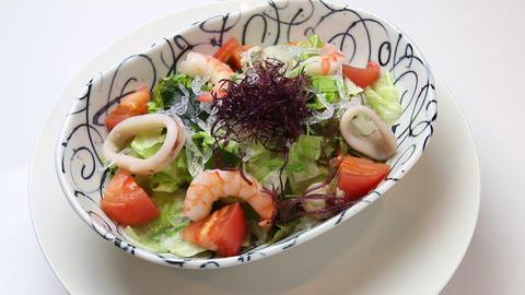 Fresh Seafood Salad Live Action