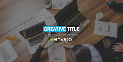 Creative title After Effects Template