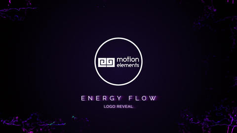 Energy Flow Logo Reveal After Effects Template
