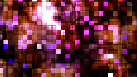 Broadcast Twinkling Hi-Tech Blocks, Maroon, Abstract, Loopable, 4K Animation