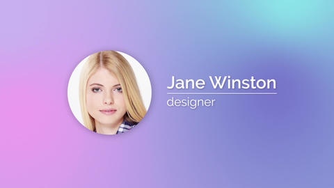 Minimal Visual Resume After Effects Template