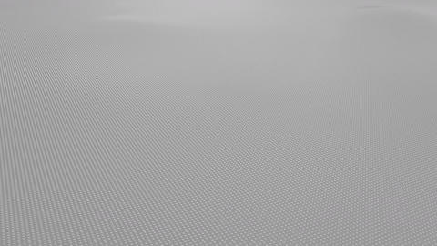 Abstract light gray wavy surface made of small balls, loopable motion background Footage