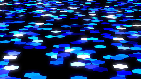 LED Light Hexagon Block illumination Wall Animation