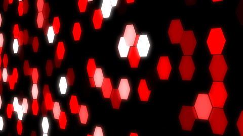 LED Light Hexagon Block illumination Wall Stock Video Footage