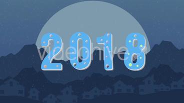 Merry Christmas 2018 Logo Opener Plantilla de After Effects