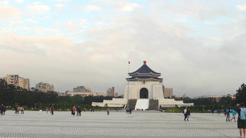 Chiang Kai-shek Memorial Hall (TAIPEI CITY, TAIWAN) Footage
