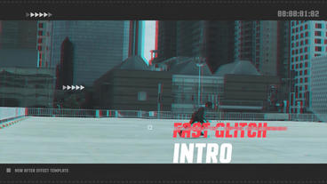 Fast Glitch Intro After Effects Template