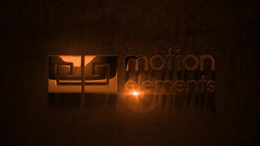 Metal Style Logo After Effects Template