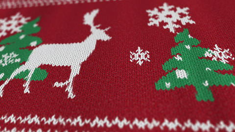Christmas sweater with a deer Bild