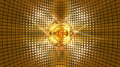Disco Ball Golden Background Animation