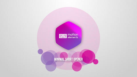 Minimal Short Opener After Effects Template