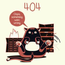 404. fanny cats design Vector