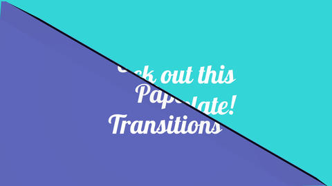 Unfolding Paper Transitions After Effects Template