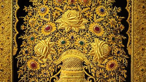 Golden carpet pattern Filmmaterial