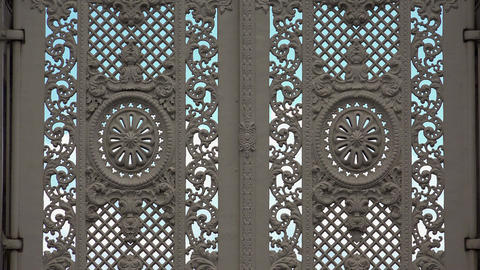 Detail of the gate Dolmabahce Palace in Istanbul. Turkey. 4K Footage