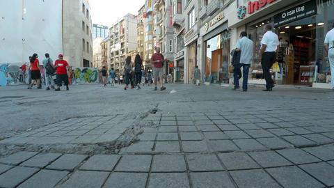 Istiklal Street in Istanbul. Turkey. 4K Footage