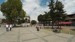 German fountain. Istanbul. Turkey. 4K Footage