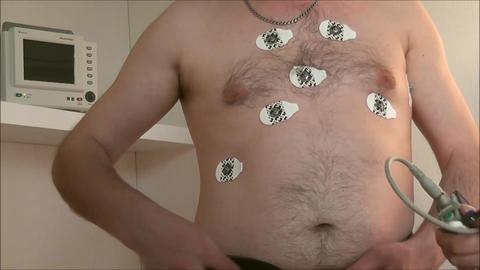 Heart Examination Remove Sensors stock footage