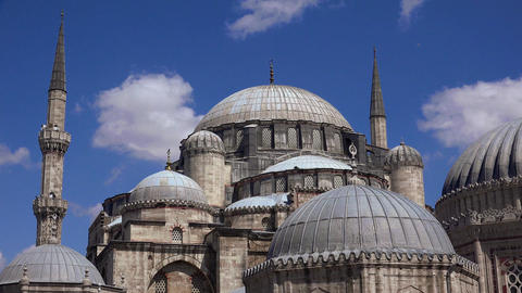 Sehzade Mosque, Istanbul, Turkey. 4K Footage