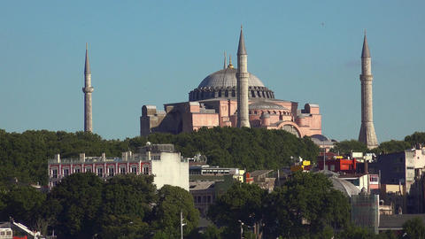 The Aya Sophia Mosque. Istanbul. Turkey. 4K Footage